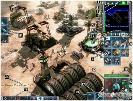 Command & Conquer 3: l'interface